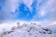 Deogyusan-Berge wird durch Schnee im Winter bedeckt korea Stockfoto