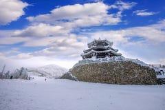Deogyusan-Berge wird durch Schnee im Winter Korea bedeckt Lizenzfreie Stockbilder