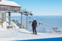 DEOGYUSAN, CORÉE - 23 JANVIER : Vue de station de vacances de Deogyusan en hiver Images libres de droits