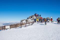 DEOGYUSAN, COREA - 23 GENNAIO: Turisti che prendono le foto Fotografie Stock
