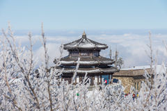 DEOGYUSAN, COREA - 23 GENNAIO: Vista della località di soggiorno di Deogyusan nell'inverno Fotografia Stock Libera da Diritti