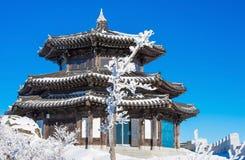 Deogyusan in de winter, Korea Royalty-vrije Stock Afbeeldingen