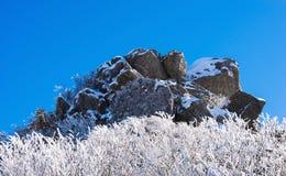 Deogyusan en el invierno, Corea imagen de archivo