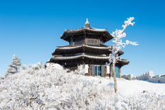 Deogyusan en el invierno, Corea fotografía de archivo libre de regalías