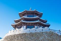 Deogyusan im Winter, Korea Lizenzfreies Stockbild