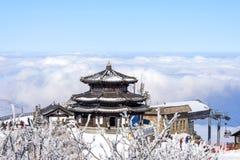 DEOGYUSAN, KOREA - 23. JANUAR: Touristen, die Fotos machen Lizenzfreies Stockfoto