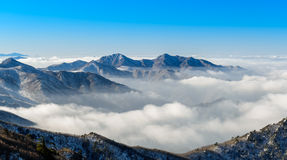 Deogyusan mountains and fog in winter. South Korea Stock Images