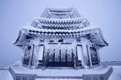 Deogyusan wird durch Schnee bedeckt Stockfotos
