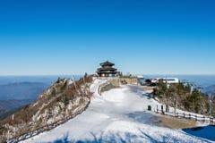 Deogyusanbergen in de winter Korea Royalty-vrije Stock Foto