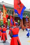Deoksugung宫殿的卫兵 免版税图库摄影