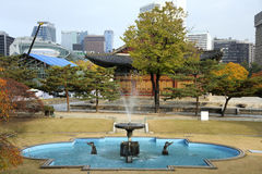 Deoksugung palace in Seoul, South Korea Royalty Free Stock Images