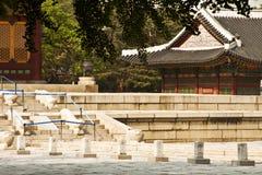Deoksugung slott i Seoul, Sydkorea Royaltyfri Fotografi
