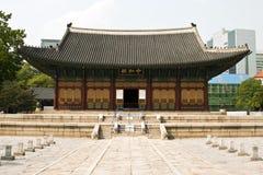 Deoksugung slott i Seoul, Sydkorea Arkivfoton