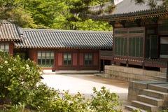 Deoksugung slott i Seoul, Sydkorea Fotografering för Bildbyråer