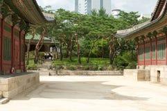 Deoksugungs-Palast in Seoul Stockfotos