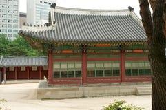 Deoksugungs-Palast in Seoul Stockfotografie