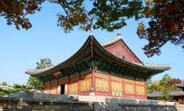 Deoksugungs-Palast Seoul, Südkorea Stockfotografie