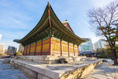 Deoksugungs-Palast in Seoul, Südkorea Stockbild