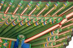 Deoksugungs-Palastdach in Seoul Stockfotografie