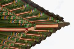 Deoksugungs-Palastdach in Seoul Lizenzfreie Stockfotografie