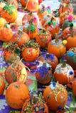 Deorated Halloween Pumpkins stock images