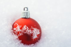 Deoration vermelho do Natal Imagem de Stock