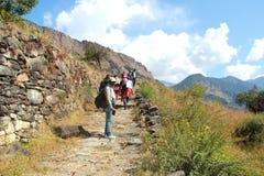 Deoria Tal Trekking. Imagem de Stock Royalty Free