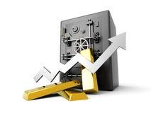 Depósito cada vez mayor del oro Imágenes de archivo libres de regalías