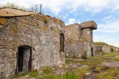 Depósito concreto velho na ilha de Totleben em Russi Imagem de Stock Royalty Free