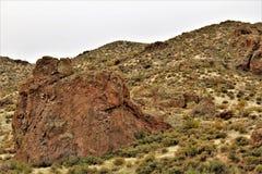 Depósito de Bartlett Lake, el condado de Maricopa, estado de Arizona, opinión escénica del paisaje de Estados Unidos imagenes de archivo