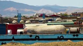 Depósito de combustível industriais em Azerbaijão, Irã vídeos de arquivo