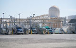 Depósito de combustible comercial Foto de archivo libre de regalías