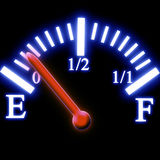 Depósito de gasolina Fotografia de Stock Royalty Free