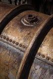 Depósito de gasolina del metal Foto de archivo libre de regalías