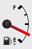 Depósito de gasolina detallado casi vacío - DES de la ilustración Imágenes de archivo libres de regalías