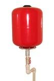 Depósito de gasolina rojo imágenes de archivo libres de regalías