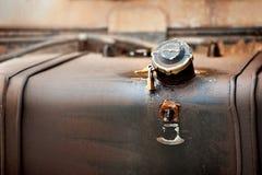 Depósito de gasolina viejo Fotografía de archivo