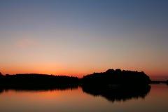 Depósito de la visión después de la puesta del sol Fotografía de archivo libre de regalías