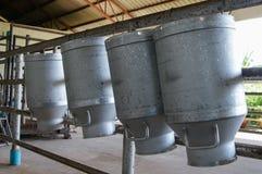 Depósito de leite cru fotografia de stock