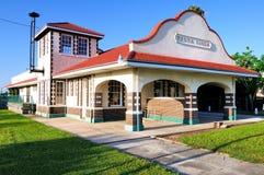 Depósito de trem de Punta Gorda Florida Fotografia de Stock Royalty Free
