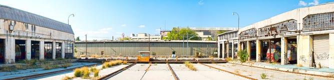 Depósito de tren Imagen de archivo libre de regalías