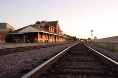 Depósito de tren de Mankato Fotografía de archivo libre de regalías