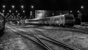 Depósito de tren en Fredericia, Dinamarca Imágenes de archivo libres de regalías
