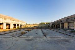 Depósito de tren en Pireo Fotografía de archivo