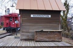 Depósito de tren en Warrenton, Warrenton Virginia Imagen de archivo libre de regalías