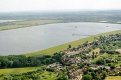 Depósito de Wraysbury, Slough, visión aérea Imagen de archivo