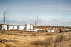 Depósito del almacenamiento del petróleo Imagenes de archivo