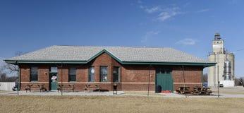 Depósito del ferrocarril de Iowa Imagen de archivo