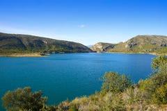 Depósito del pantano de Loriguilla Pantano en Valencia Fotografía de archivo libre de regalías