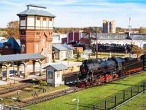 Depósito del vapor en la estación de tren Podmoskovnaya fotografía de archivo libre de regalías